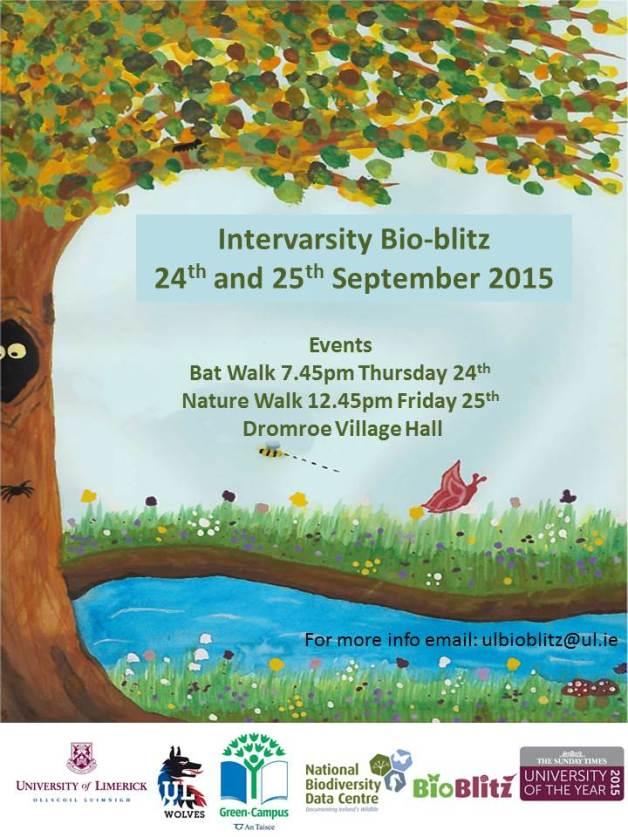 University of Limerick Intervarsity Bioblitz 2015