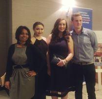 UL Environmental Soc attending at BICS Awards - (from left to right) Manasi Shetye, Lauren O'Brien, Donnchadh O Sullivan & Helen Walshe