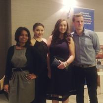 UL Environmental Soc attending at BICS Awards - (from left to right) Manasi Shetye, Lauren O'Brien, Donnchadh O Sullivan & Helen Walshe